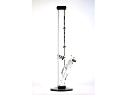 "Nice Glass WaterPipe - Straight >18"" 9mm 14mm Bowl Choice of Colors 006-9"