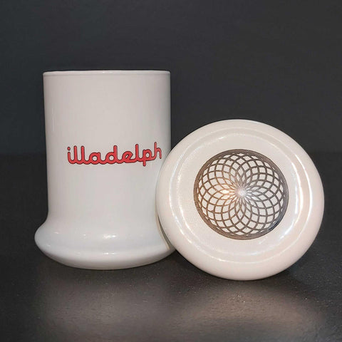 Illadelph Glass Jar W/ Logo and Fillacello Look Lid