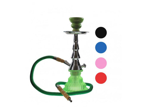 Omnis Pumpkin 1-Hose Hookah Frosted Base Choice of Colors P9-B1H