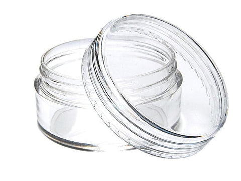 NoName Plastic Jar Polystyrene Clear Concentrate Container 10ml 100/pk