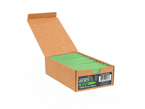 "Grower's Edge Plant Labels / Stakes 4"" 1000/pack Choice of Colors"
