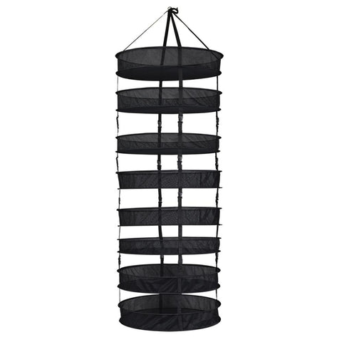 Grower's Edge Drying Rack Partially Enclosed Topless W/ Clips (Sections Can Be Separated) 6-Tier 2' Diameter