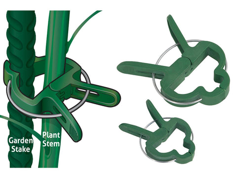 Grower's Edge Plant Clamp Clip Secures Stems To Garden Stakes Size Small 1pc