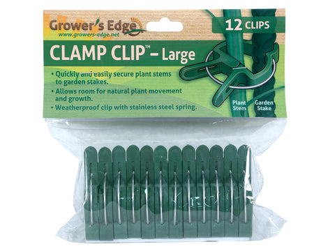 Grower's Edge Plant Clamp Clip Secures Stems To Garden Stakes Size Small 12/pack