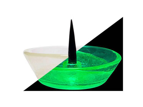 Debowler Glass Ashtray w/ Poker / Cleaner Spike UV Reactive