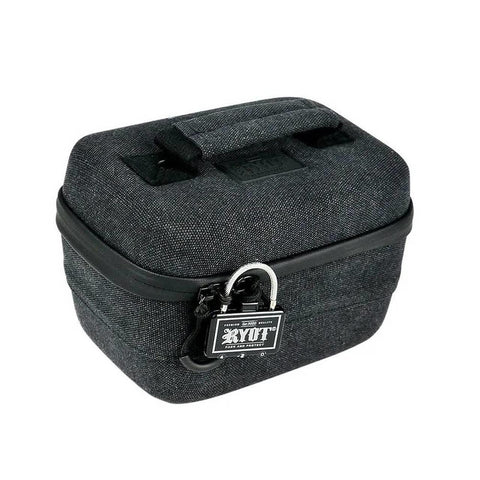 "RYOT Safe Case 2.3L 7x4.5x4.5"" Small Carbon Series Smell-Safe Lockable Black"