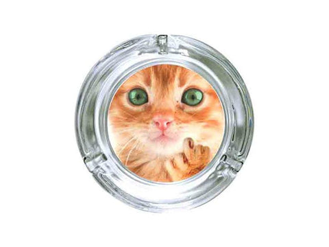 "Stonerware Glass Ashtray 4.25"" Kitten Finger"