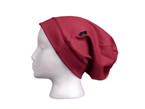 Efforts Hempwear Hat - Slouchy Toque Plum Purple OSFM One Size Fits Most