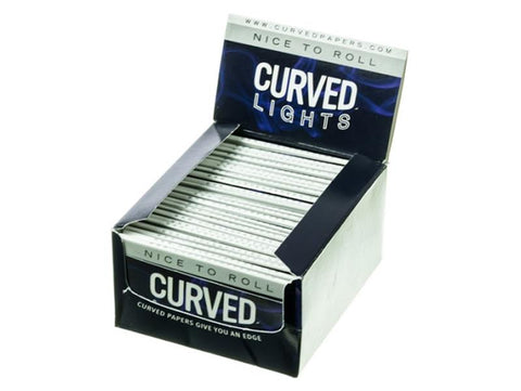 Curved Rolling Papers 1-1/4 Size Lights 50/pack 24/box
