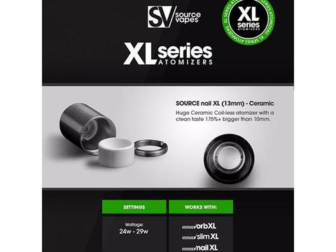 Source Vapes XL Series Replacement Atomizer - Coilless Ceramic Bucket (13mm)