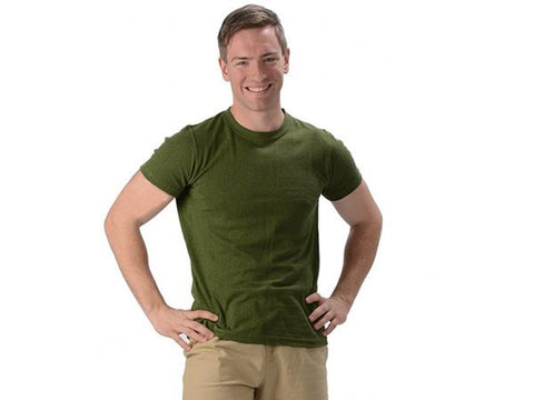Effort Industries Men's Hemp & Organic Cotton 55/45 Urban T-Shirt Olive Green - Choice of Size