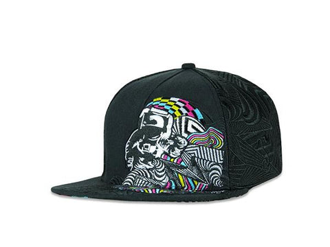 Grassroots California Hat - SnapBack Psychonaut Black Choice of Sizes