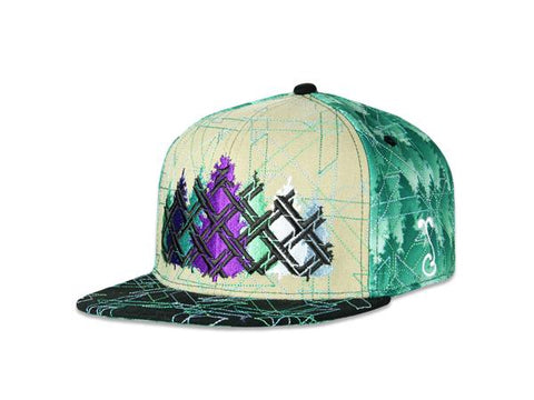 Grassroots California Hat - SnapBack Laser Forest V2 Choice of Sizes