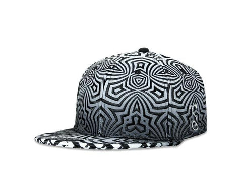 Grassroots California Hat - SnapBack Cassady Bell Zig Zag Swirls Choice of Sizes