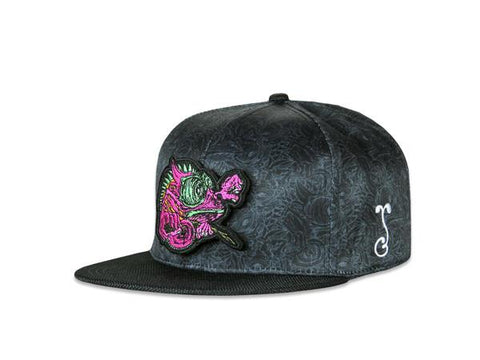 Grassroots California Hat - SnapBack Aaron Brooks Removable Chameleon Allover Choice of Sizes