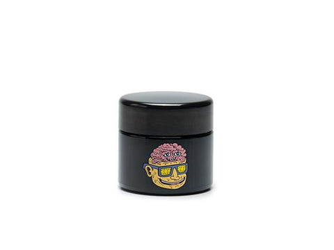 420 Science UV Glass Screw-Top Herb Jar -  3.5g Small - Teenage Lobotomy