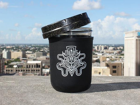 Re:Stash Jar Set  8oz (Silicone Koozie, Smell-Proof Child-Resistant Lid Jar) Cosmic Cat