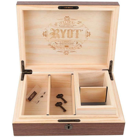 RYOT® Humidor Combo Box in Walnut - 8x11 with 4x7 Screen Box