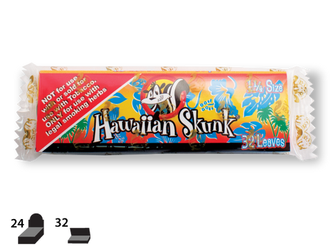 Skunk Brand Rolling Papers - 1-1/4 Size - Hawaiian Skunk 32/pack 24/box