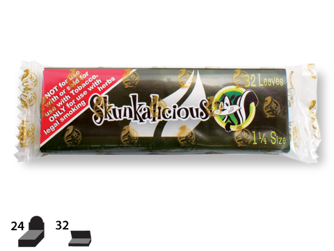 Skunk Brand Rolling Papers - 1-1/4 Size - Skunkalicious 32/pack 24/box