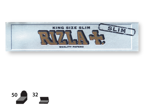 Rizla Rolling Papers King Size Silver Slim 32/pack 50/box