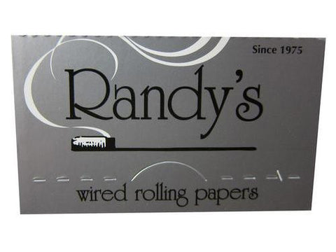 Randy's Wired Rolling Papers 1-1/4 Size 24/pack 25/box