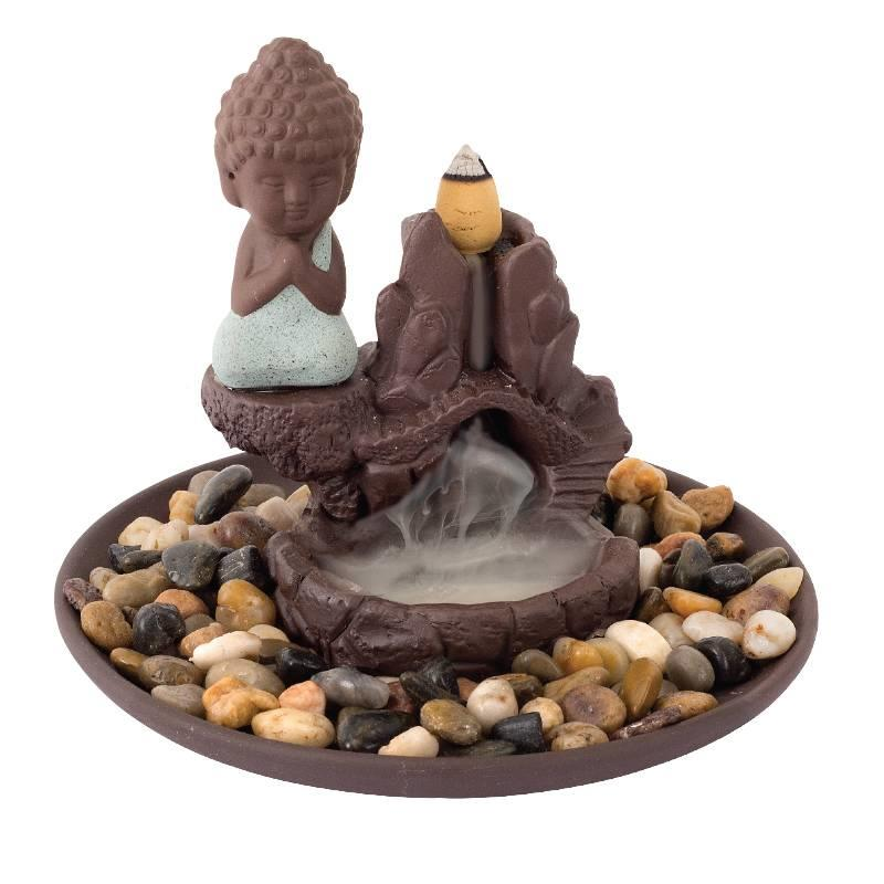 NoName BackFlow Incense Cone Burner Buddha W/ 20/pack of Cones