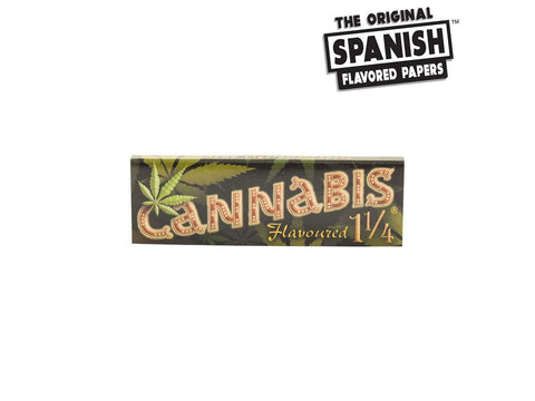 Spanish Rolling Papers Flavoured Cannabis 1-1/4 Size 33/pack