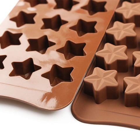 NoName Silicone Mold for Chocolate & Candy Stars 15/tray