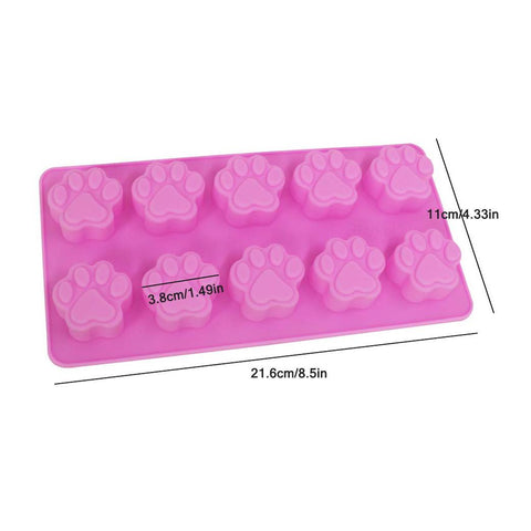 NoName Silicone Mold for Chocolate & Candy Dog Paws 10/tray