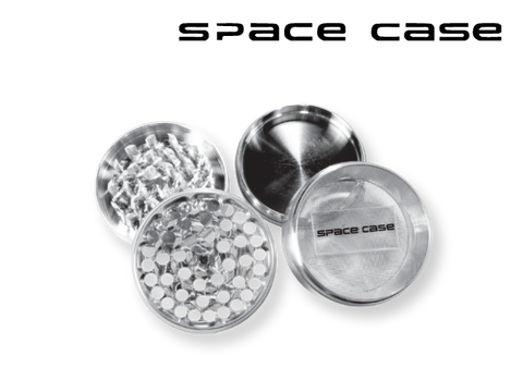"Space Case Aircraft Grade Aluminum Grinder Silver 4 Piece 2"" Small"