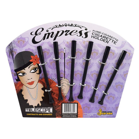 Rolling Supreme Empress Telescopic Cigarette Holder Black 6/pack