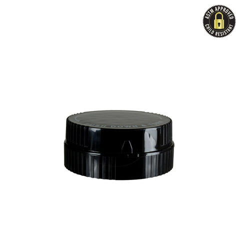 NoName Plastic Vial / Jar / Medicine Bottle - Grinder Caps 50/pack for Reversible Cap Opaque Black 10g / 40dram & 14g / 60dram