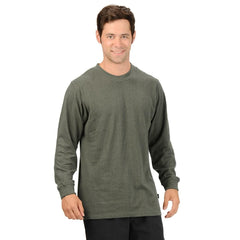 Effort Industries Men's Hemp & Organic Cotton 55/45 Long Sleeve T-Shirt Olive Green