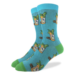 Good Luck Sock Medical Marijuana Choice of Mens Adult Shoe-Size 5-9 or 7-12 Pair of Socks