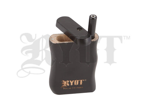 RYOT Dugout - Solid Wood - Magnetic Lid - Poker and Bat Included - Black - Small