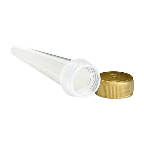 NoName Joint Tube Conical Clear & Gold Screw-Top 102mm 1000/pack