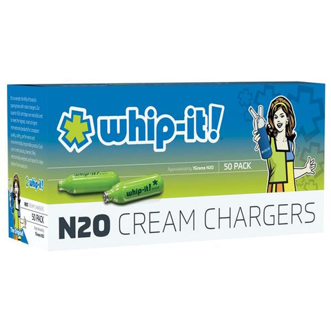 Whip-It N2O Charger 50/pack Food Grade Up To 8g/Charger