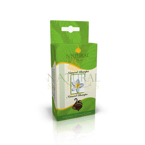 Natural Champa Classic Incense Cones 20/pack