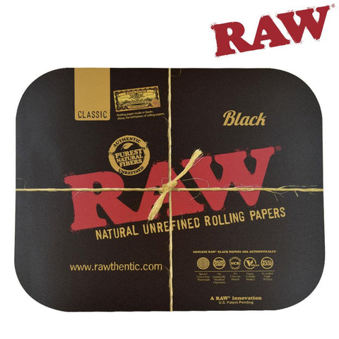 RAW Metal Rolling Tray Lid / Cover Black Large 34x26.5cm