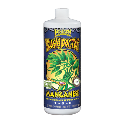FoxFarm Nutrient / Additive Bushdoctor Manganese 1 Quart Bottle