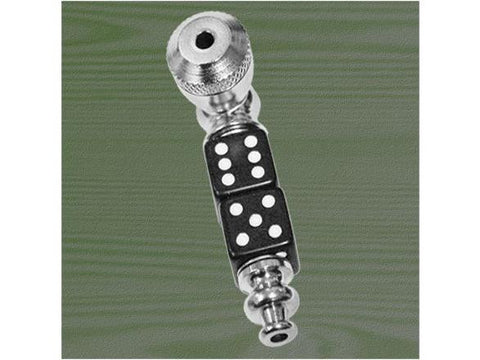 NoName Metal Pipe - Parts Pipe Dice x2 Stem Nickel w/ Cap MP108