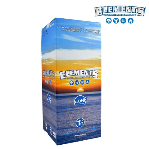 Elements Rolling Papers Pre-Rolled Cones 1-1/4 Size 900/pack