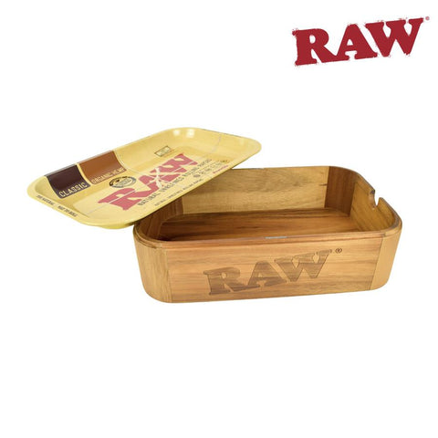 RAW Cache Box Storage Rolling Tray Tin Case Container All-In-One