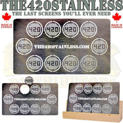 "420 Screens Stainless Steel Screens 1/2"" Diameter 10/pack"