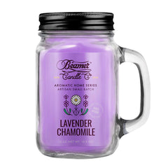 Beamer Candle Co. 12oz Glass Mason Jar Candle Lavender & Chamomile
