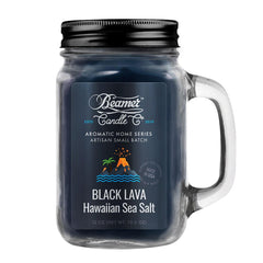 Beamer Candle Co. 12oz Glass Mason Jar Candle Black Lava Hawaiian Sea Salt