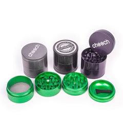 Cheech Glass Grinder Aluminum CNC 4-piece Non-Sticky GR8 Choice of Colors