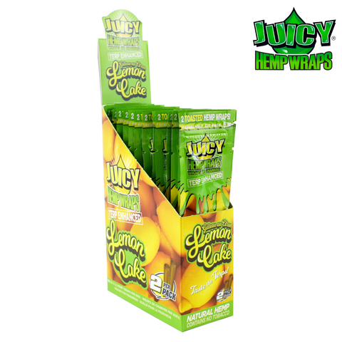 Juicy (Juicy Jays) Hemp Wraps Terp Enhanced Lemon Cake 2/pack 25/box