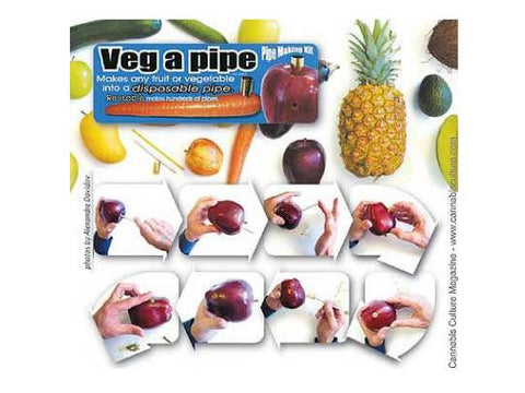 Veg-A-Pipe Vegetable Pipe Kit - Turn Any Fruit or Vegetable Into A Pipe